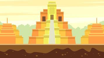 El Dorado-Stadt des Goldfreien Vektors