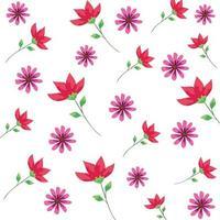 bakgrund av blommor och blad vektor