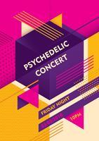 Psychedelisches Konzertplakat vektor