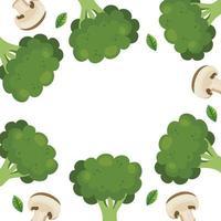 ram av ikoner för färska grönsaker