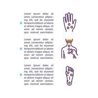 Akupressur-Konzept-Symbol mit Text