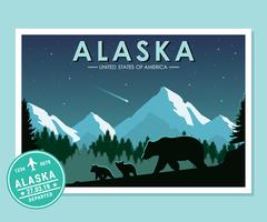Postkarten aus Alaska vektor