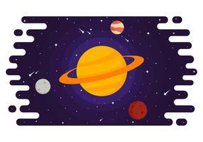 Ringar av Saturn Vector Illustration