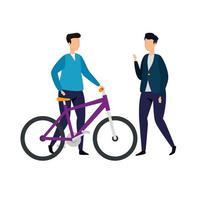 unga män med cykel avatar karaktär ikon