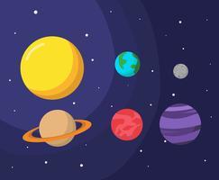 Planet och rymdvektor vektor