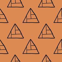 Vektor nahtloses Muster, Textur Hintergrund. handgezeichnete, orange, schwarze Farben.