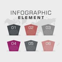Business Infografik Element Vektor-Design vektor
