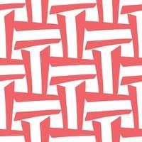 vektor sömlösa mönster, textur bakgrund. handritade, röda, vita färger.