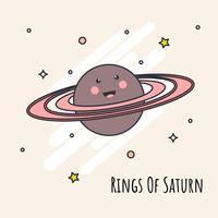 Ringe von Saturn-Vektor