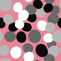 vektor sömlös textur bakgrundsmönster. handritade, rosa, grå, svarta, vita färger.