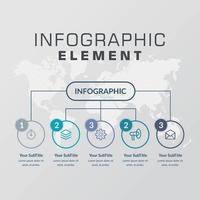 Business Infografik Element Vektor-Design vektor