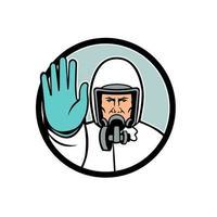Stoppen Sie die Ausbreitung des Virus-Maskottchens