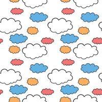 vektor sömlös textur bakgrundsmönster. handritad, orange, blå, röd, vit, svart färger.