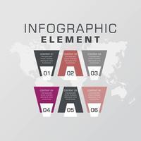 affärsinfografisk elementvektordesign