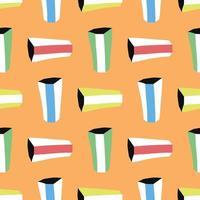 vektor sömlös textur bakgrundsmönster. handritad, färgad, orange bakgrund.