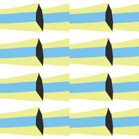 Vektor nahtloses Muster, Textur Hintergrund. handgezeichnete, blaue, gelbe, schwarze, weiße Farben.