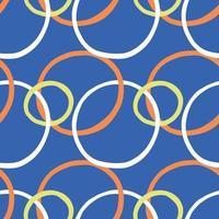 vektor sömlös textur bakgrundsmönster. handritade, blå, orange, gula, vita färger.