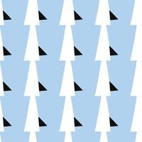 Vektor nahtlose Textur Hintergrundmuster. handgezeichnete, blaue, schwarze, weiße Farben.