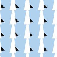 vektor sömlös textur bakgrundsmönster. handritade, blå, svarta, vita färger.
