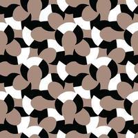 Vektor nahtlose Textur Hintergrundmuster. handgezeichnete, schwarze, braune, weiße Farben.