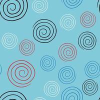Vektor nahtlose Textur Hintergrundmuster. handgezeichnete, blaue, rote, schwarze, weiße Farben.