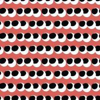 vektor sömlös textur bakgrundsmönster. handritade, röda, svarta, vita färger.