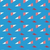 Vektor nahtlose Textur Hintergrundmuster. handgezeichnete, blaue, rote, weiße Farben.