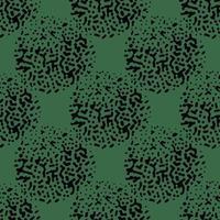 vektor sömlös textur bakgrundsmönster. handritade, gröna, svarta färger.