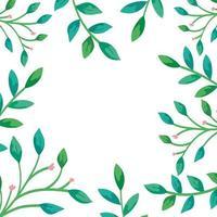 Rahmen von Zweigen mit Blättern natürlich