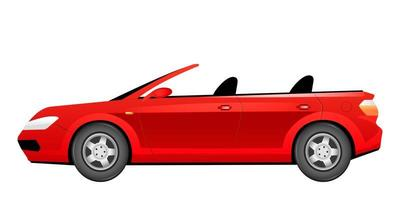 röd cabriolet tecknad vektorillustration