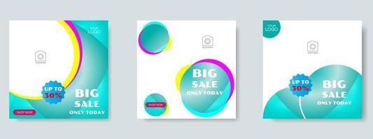 Modeverkauf Social Media Post Design Vorlage. Web-Banner-Vektor