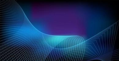 abstrakte leuchtende Welle auf dunkler, glänzender Bewegung, magischem Raumlicht. abstrakte Hintergrundgestaltung der Vektortechnologie vektor