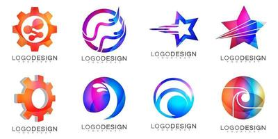 modern minimal vektor logo design