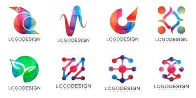 modernes minimales Vektorlogodesign vektor