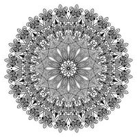 abstrakte arabeske Mandala-Design der floralen dekorativen arabischen Punktform und Hintergrund des islamischen Musters vektor