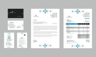 modern ren affärskontorspapper design vektor