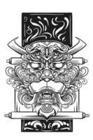 wütendes Tierillustrationskunstdesign vektor