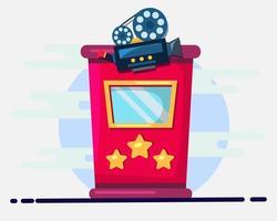 Illustration des Kinokartenschalters im flachen Stil vektor