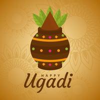 Happy Ugadi Vector Hintergrund