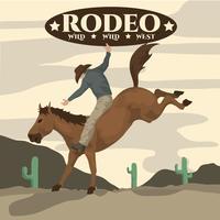 Rodeo-Illustration vektor