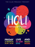 Holi-Festival-Plakat vektor