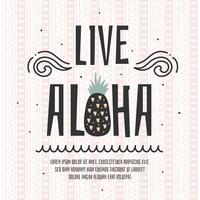 levande aloha vektor