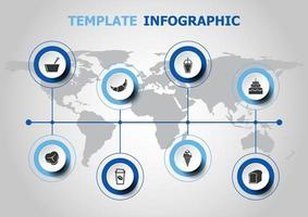infografisk design med populära matikoner
