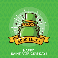 St. Patricks Day Hintergrund vektor