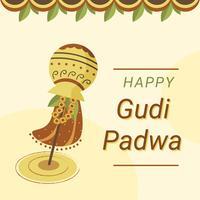 Gudi Padwa-Feier-Vektor