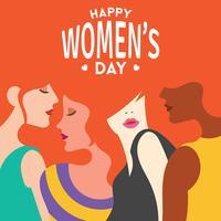 Internationella kvinnodag illustrationen