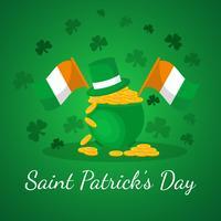 St. Patrick Day Hintergrund vektor