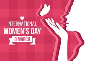 Internationaler Tag der Frauen-Hintergrund vektor