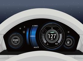 Auto-Dashboard Ui vektor