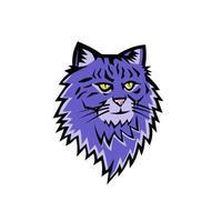 Maskottchen der sibirischen Waldkatze vektor